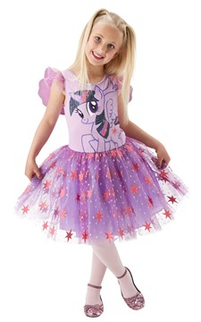 Maskeraddräkt Twilight Sparkle Deluxe, My Little Pony, Strl 104, Rubies