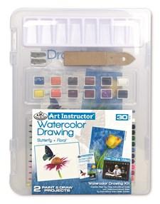Kompakt vannmalingsblyantsett (akvarell) i Clearview-format – Art Instructor