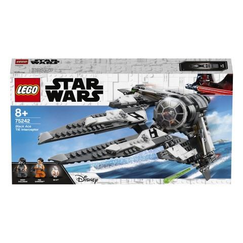 svart Ace TIE Interceptor  LEGO Star Wars (75242)  Lego