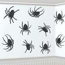 Veggdekorasjon Halloween Edderkopper