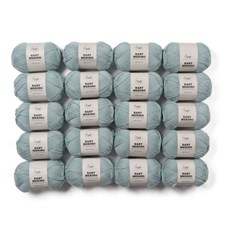 Adlibris Baby Merinoull Garn 50g Light Sea Green A031 20-pack