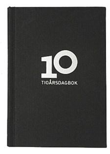 Dagbok för 10 år i Linnetextil 142x205 mm Svart