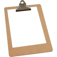 Clipboard, A5 19x27 cm, tykkelse 3 mm, MDF, A5, 1stk.