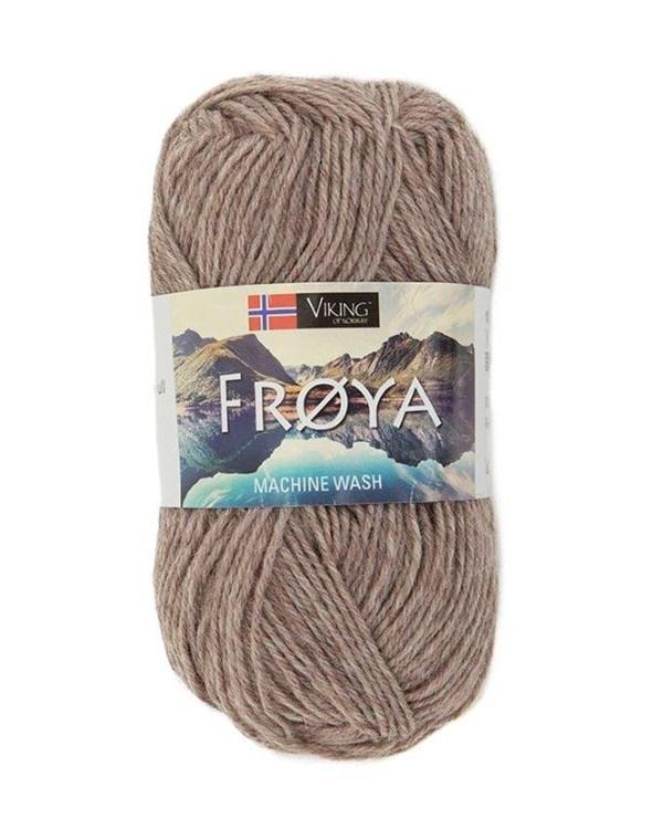 Viking of Norway Froya Garn Ullmix 50g Ljusbrun 281