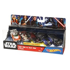 Hot Wheels Light Vs. Dark Side 5 Pack, Star Wars