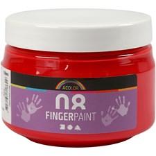 Fingermaling, 150 ml, rød