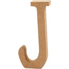 Träbokstäver J 13 cm MDF 1 st