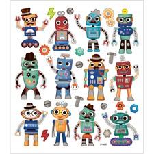 Tarrat, arkki 15x16,5 cm, n. 26 kpl, robotit, 1ark