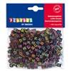 Bokstavspärlor 300st Neonfärg Svarta Playbox