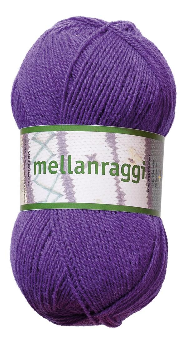 Mellanraggi Garn Ullmix 100g Lila (28207)