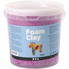 Foam Clay, 560 g, neonlila