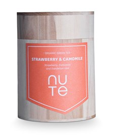 NUTE Te Green Strawberry & Camomille 100 g Ekologisk