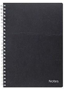 Notatbok A6 kartong svart-6126