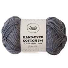 Adlibris Cotton 5/4 Hand-dyed 50g Dusty blue A401