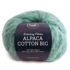 Adlibris, Alpacka Bomull Stor, 50 g, Turquoise Twist A676