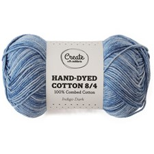 Adlibris Cotton 8/4 Hand-dyed 50g Indigo dark A393