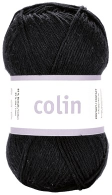 Järbo Colin Garn Bomullsmix 50g Black (28101)