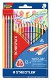 Noris Club® 16-pack trekantiga träfärgpennor, 12 + 4 pack