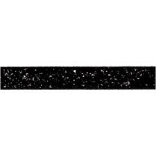 Dekorationsband, B: 10 mm, svart, 5m