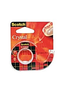 Teippi SCOTCH Crystal telineellä 12 mm x 10 m