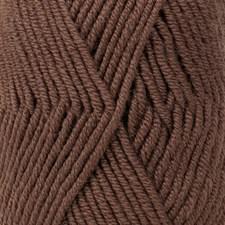 Merino Extra Fine Uni Colour Garn Merinoull 50 g Sjokolade 49 Drops
