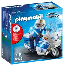 Politimotorsykkel med LED-lys, Playmobil City Action (6923)
