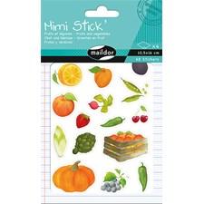Mimi Stick', Pakke 4 ark 10,5 x 16 cm, Frukt og grønnsaker