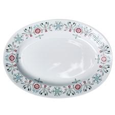 Ovalt serveringsfat, Swedish Grace Winter, 32 cm, Hvit, Rörstrand