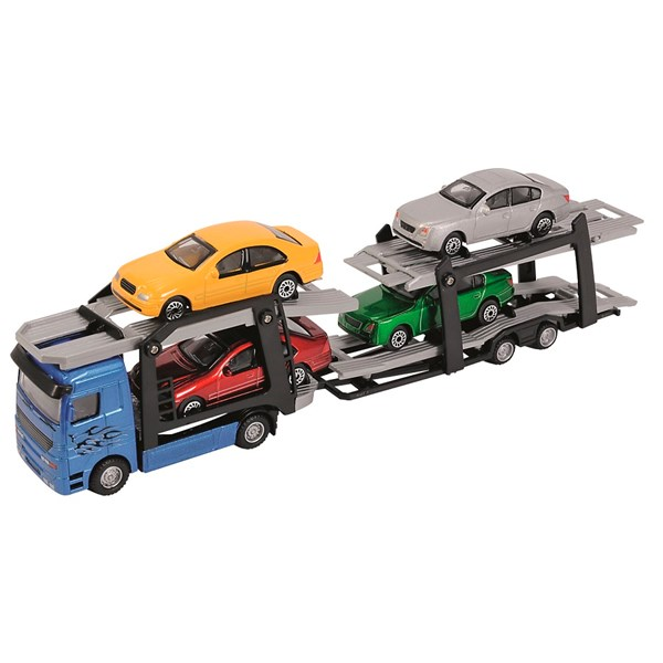 Biltransporter med 4 biler, Dickie Toys