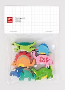 Pyyhekumi Dinosaurukset 6 kpl, n. 3 x 3 cm