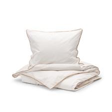 Sköna Hem Two fold Påslakanset i Tvättad Bomullspercale 150x200 cm Offwhite/Sand