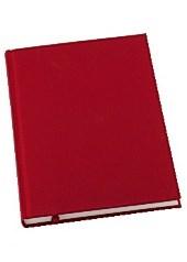 Anteckningsbok Grieg Design inbunden A5 100 gram linjerat Röd