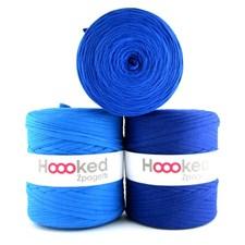 Hoooked Zpagetti Garn Återvunnen bomull ca 900g Mid blue shades (ZP001-15)