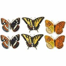 Figur Fjärilar 45x33 mm Mix 6 st