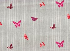Bomullstyg Fjärilar 50x160 cm Grå