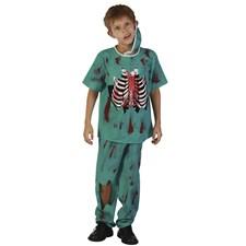 Zombie Doktor Karnevalskostyme Barn