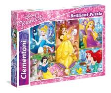 Pussel Disney Brilliant Princess, 104 bitar, Clementoni