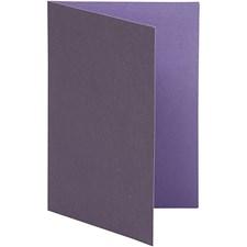 Korttipohja, violetti/tummanvioletti, koko 10,5x15 cm,  250 g, 10kpl