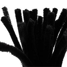 Piprensare, tjocklek 9 mm, L: 30 cm, svart, 25st.
