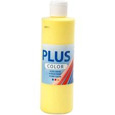 Plus Color-askartelumaali, 250 ml, kirkas keltainen