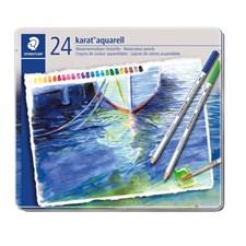 Karat® akvarell 24-pack, av högsta kvalitet, i metallask.