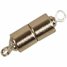 Magnetlås, dia. 5 mm, L: 17 mm, forsølvet, 2stk.