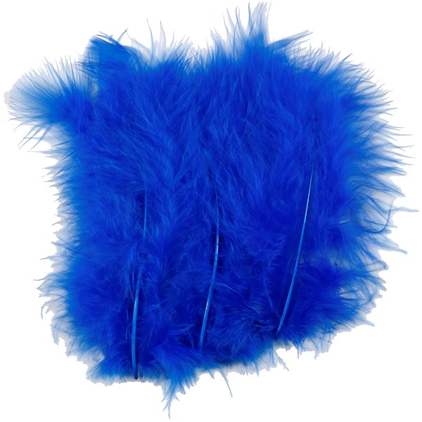 Dun, str. 5-12 cm, 15 stk., blå