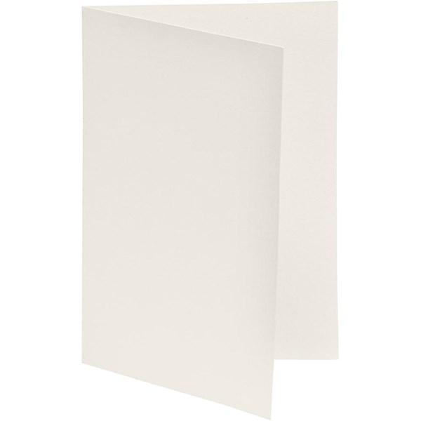 Brevkort, str. 10,5x15 cm, 250 g, 10 stk., råhvit