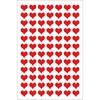 Klistremerker, Filt, Hjerter, Liten, Rød, 10 x 19 cm
