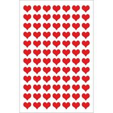 Klistermärken Filt Hjärta Liten 1 Ark Röd