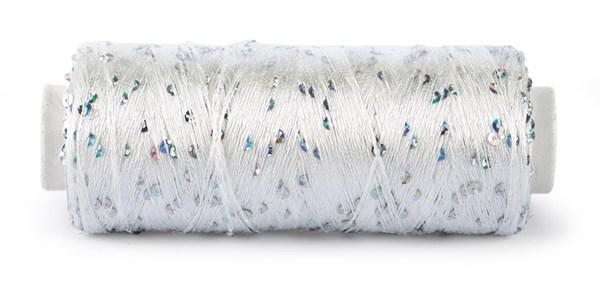 Du Store Alpakka Bling Effekttråd 50 g Hvit 3001
