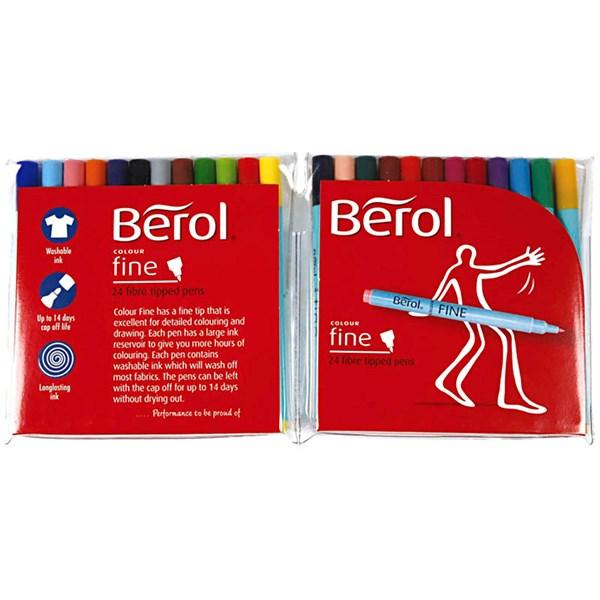 Berol Colourfine, strektykkelse: 0,6 mm, dia. 10 mm, 24 stk., ass. Farger