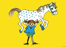 Pippi häst affisch