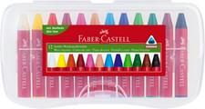 Faber-Castell Voks Fargestifter Jumbo Plastetui 12